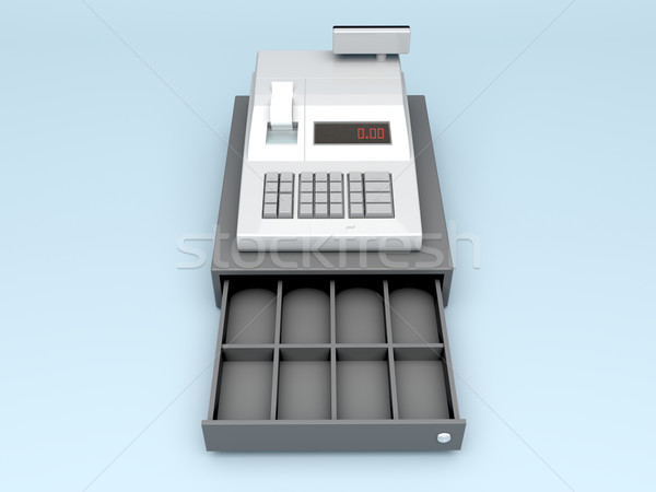 3d cash register Stock photo © magraphics