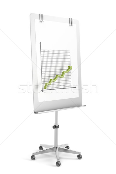 Flip chart with arrow graph Stock photo © magraphics