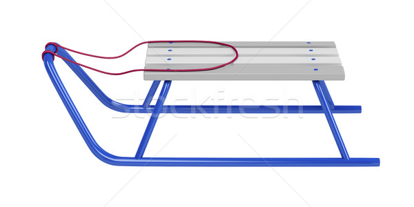 Sledge on white Stock photo © magraphics