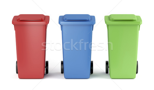 Colorful garbage bins Stock photo © magraphics