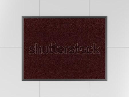 Doormat on tiled floor Stock photo © magraphics