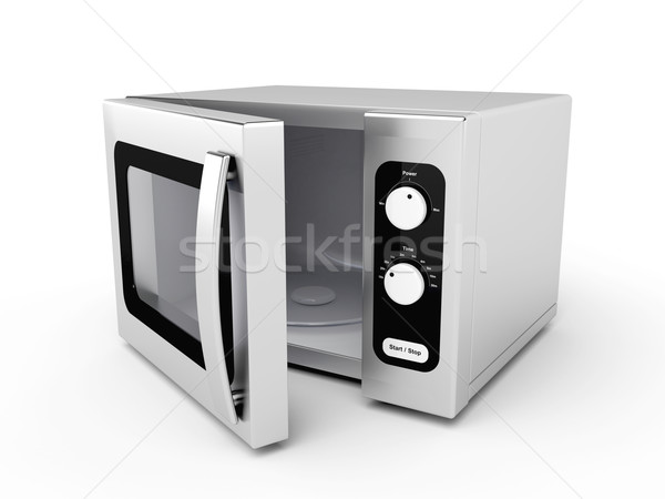 Silver microwave oven Stock photo © magraphics
