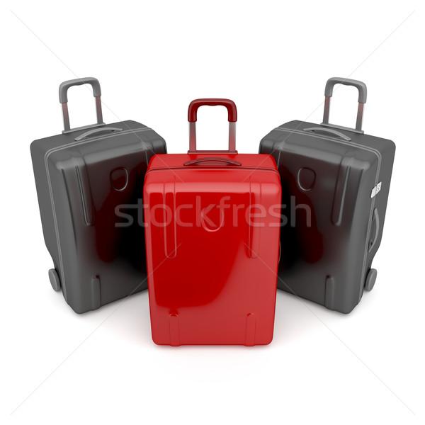 Különbség egy piros kettő fekete utazás Stock fotó © magraphics