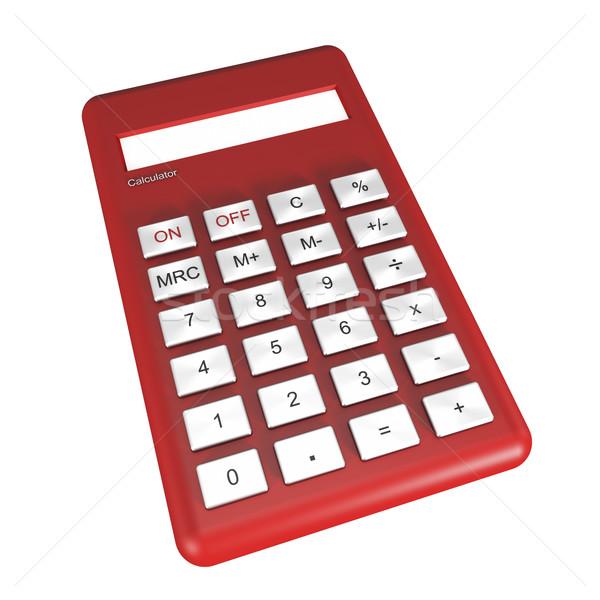 電卓 赤 孤立した 白 金融 数学 ストックフォト © magraphics
