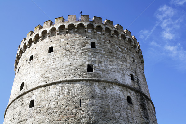 белый башни Салоники Греция здании путешествия Сток-фото © magraphics