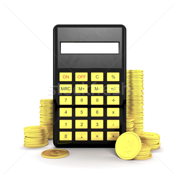 Calculator and coins Stock photo © magraphics