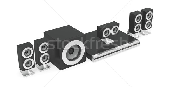 Audio-video player with speakers Stock photo © magraphics
