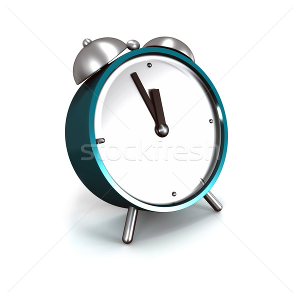 目覚まし時計 ターコイズ 孤立した 白 金属 時計 ストックフォト © magraphics