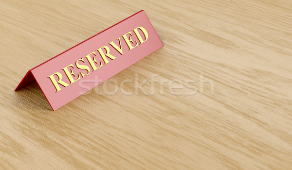 Reserved sign on table  Stock photo © magraphics