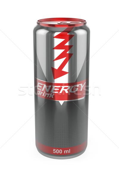Energiaital konzerv fehér fém ital energia Stock fotó © magraphics