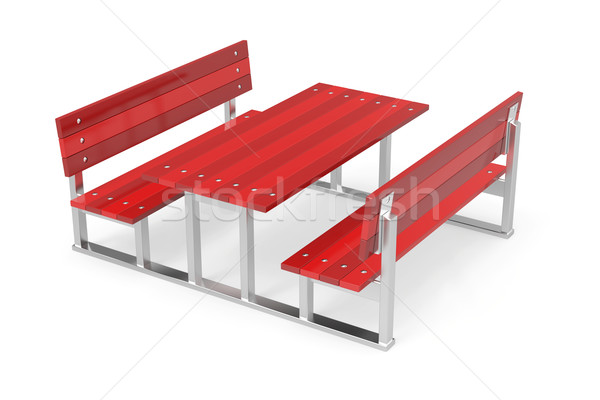 Benches and table Stock photo © magraphics