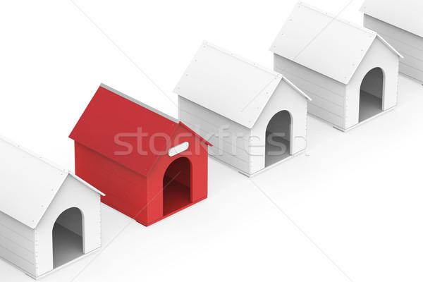 Dog houses Stock photo © magraphics