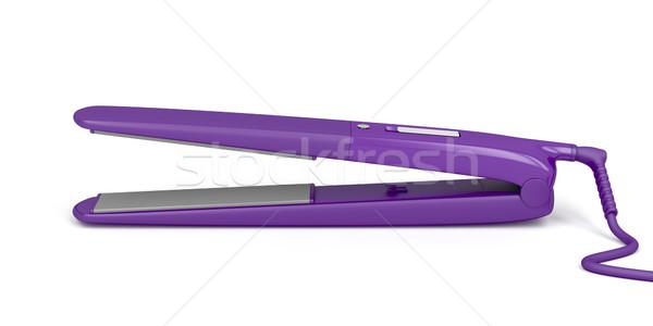 Purple hair straightener Stock photo © magraphics