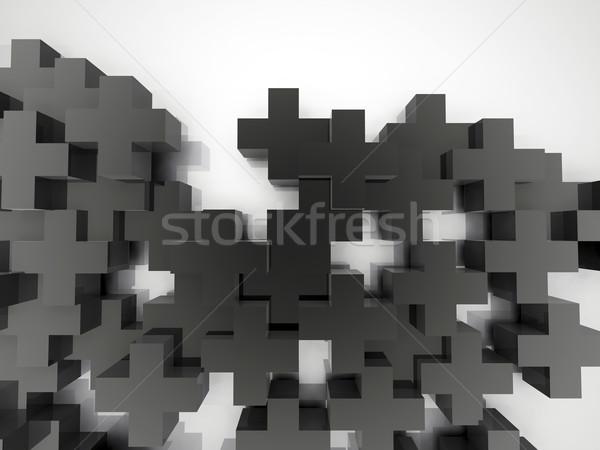 グレー 抽象的な 画像 プラス シンボル 白 ストックフォト © magraphics