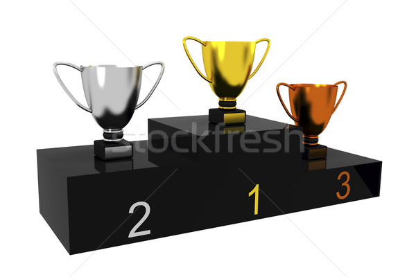 Trophy cups Stock photo © magraphics