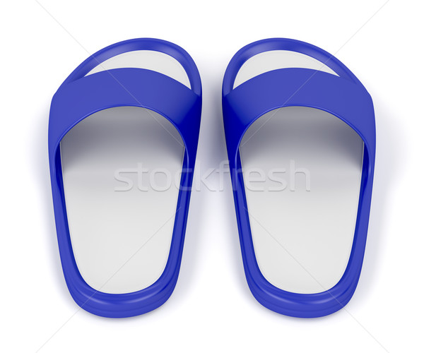 Blue slippers Stock photo © magraphics
