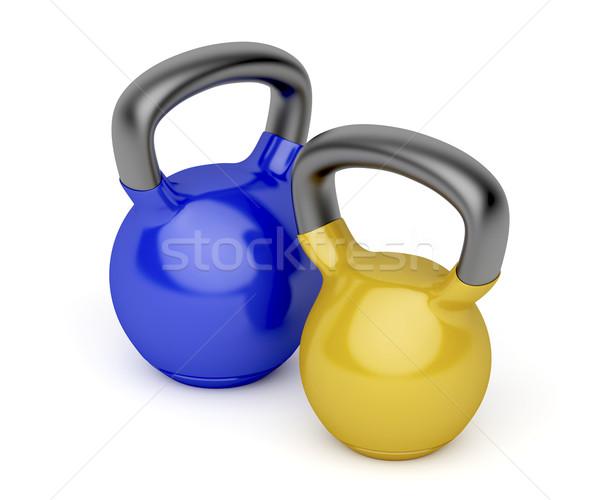 Two kettlebells Stock photo © magraphics