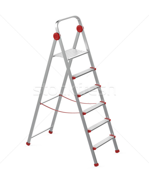 Alüminyum adım merdiven beyaz inşaat Metal Stok fotoğraf © magraphics