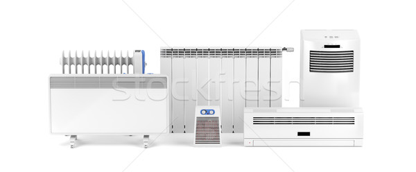 Electric heaters on white Stock photo © magraphics