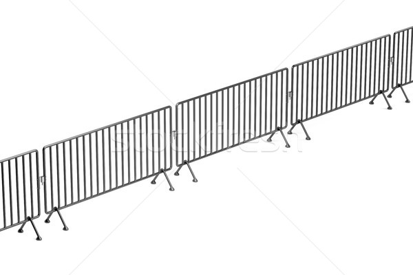 Crowd control fence Stock photo © magraphics