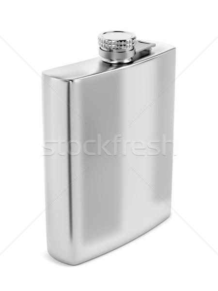 Srebrny biodro biały pić butelki Zdjęcia stock © magraphics