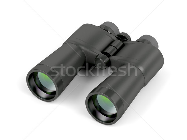 Binoculars on white background Stock photo © magraphics