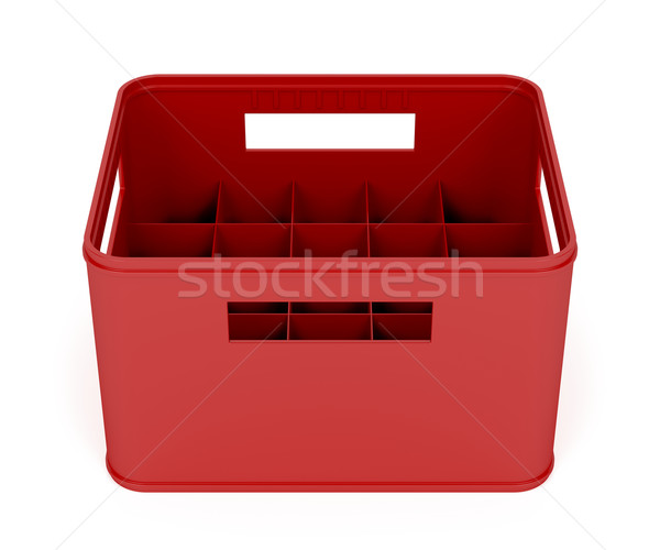 Plastic beer crate Stock photo © magraphics