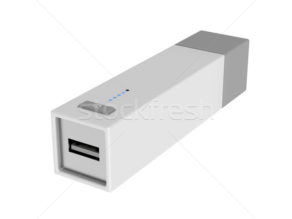 Usb Batterie Packung isoliert weiß Technologie Stock foto © magraphics