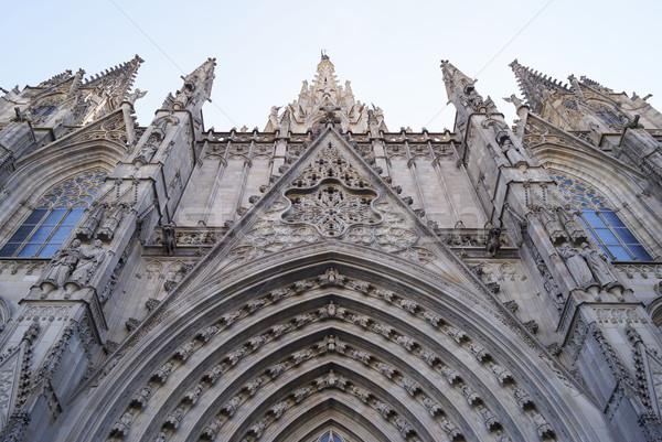 Barcelona katedrális szent kereszt szent Spanyolország Stock fotó © magraphics