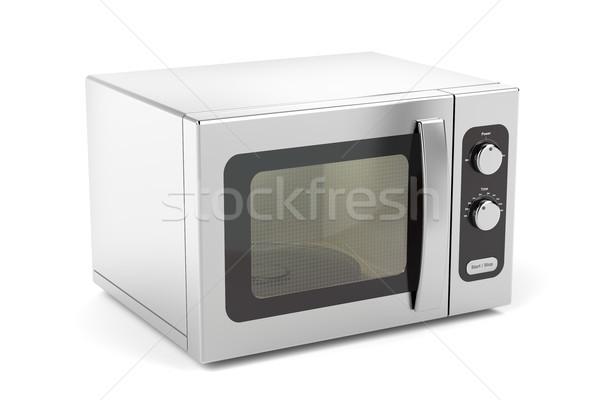 серебро микроволновая печь печи белый продовольствие кухне Сток-фото © magraphics