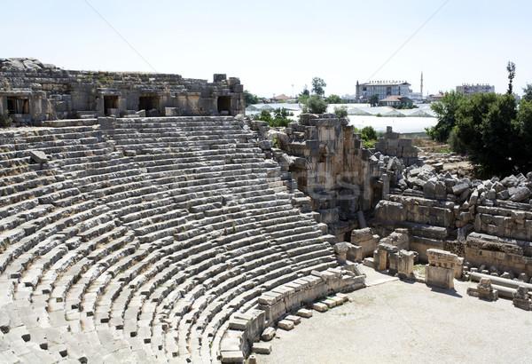 Amfitiyatro eski Yunan tiyatro kasaba bölge Stok fotoğraf © magraphics
