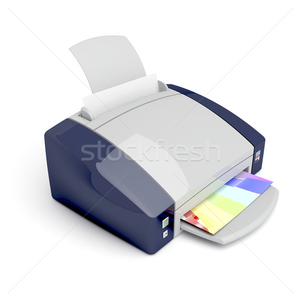 Color printer Stock photo © magraphics