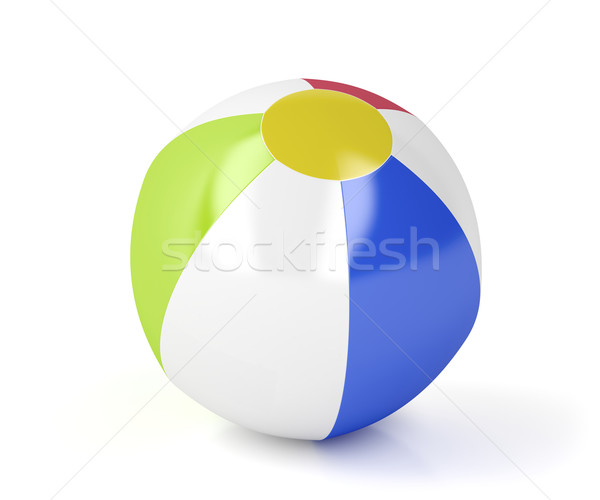 Bola de praia branco brinquedo balão jogo plástico Foto stock © magraphics