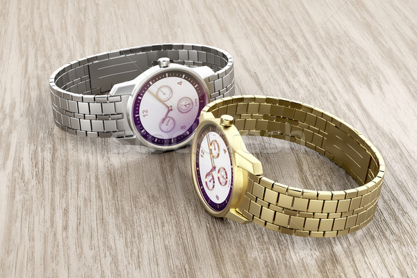 Gold and silver watches Stock photo © magraphics