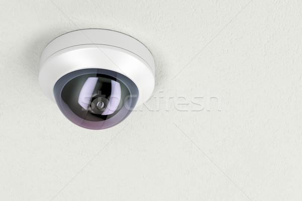 Inwigilacja kamery dołączone biały sufit wideo Zdjęcia stock © magraphics