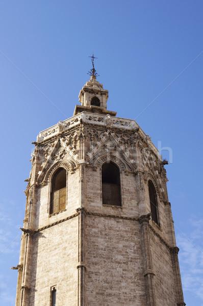 Torony Valencia katedrális Spanyolország templom istentisztelet Stock fotó © magraphics