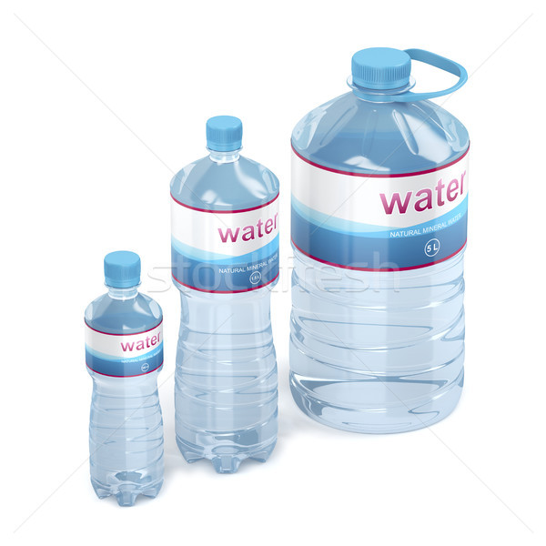 Water bottles with different sizes Stock photo © magraphics