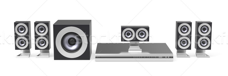 Stockfoto: Home · cinema · kanaal · technologie · spreker · video · bioscoop
