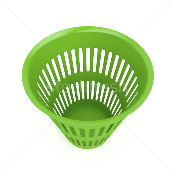 Yeşil atık sepet beyaz çöp plastik Stok fotoğraf © magraphics