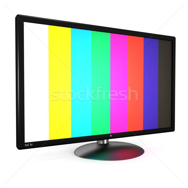 液晶 テレビ フラットスクリーン 孤立した 白 3dのレンダリング ストックフォト © magraphics