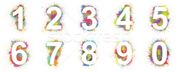 Colorful numbers Stock photo © magraphics