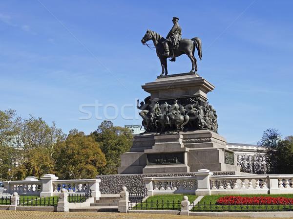 Szófia Bulgária férfi ló történelem szobor Stock fotó © magraphics