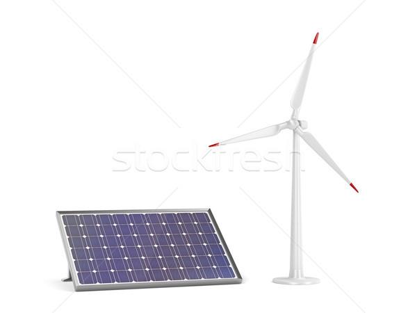 風力タービン 白 電源 クリーン 塔 ストックフォト © magraphics
