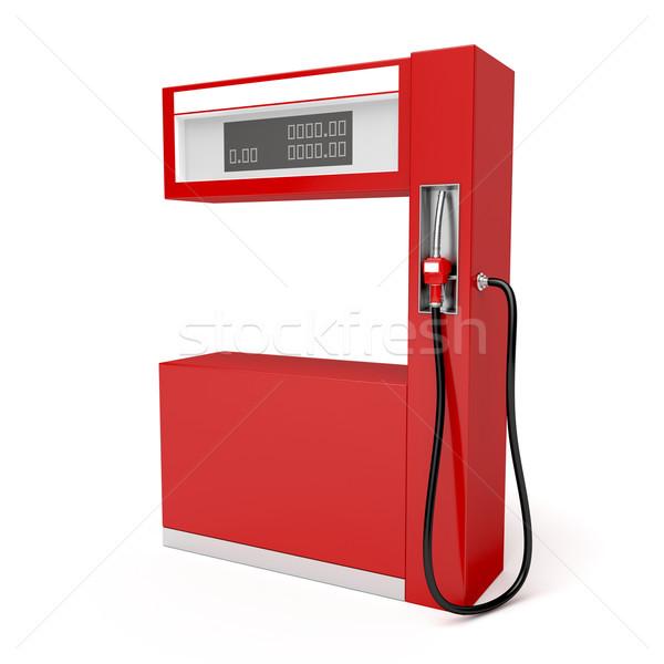 Benzinpumpa piros fehér olaj gazdaság ár Stock fotó © magraphics