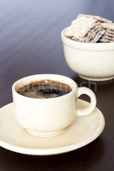 エスプレッソ カップ 強い 黒 コーヒー ケーキ ストックフォト © magraphics