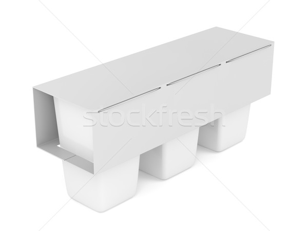 Packs of plastic containers Stock photo © magraphics