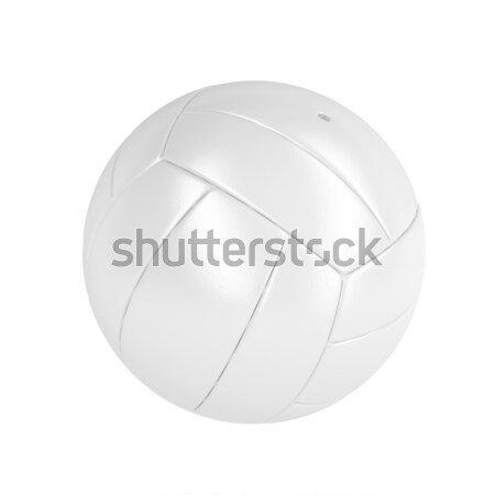 Branco voleibol bola couro isolado areia Foto stock © magraphics