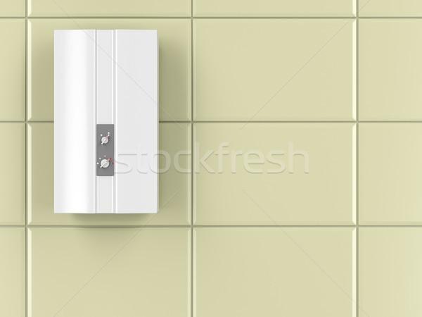 Automatisch water verwarming badkamer muur gas Stockfoto © magraphics