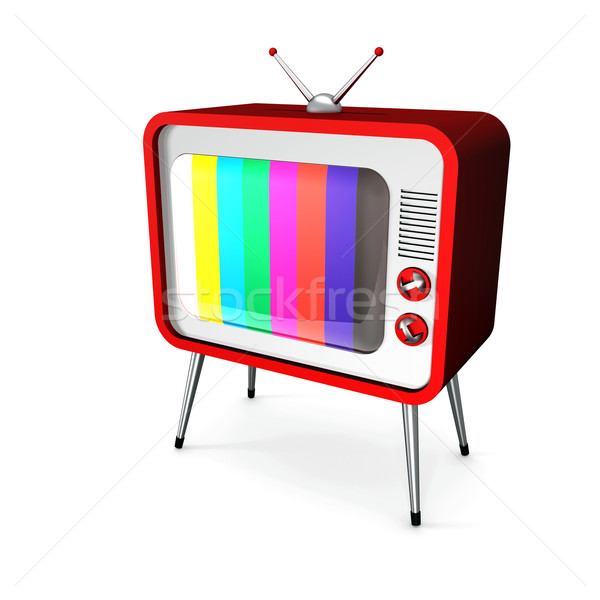 Red TV Stock photo © magraphics
