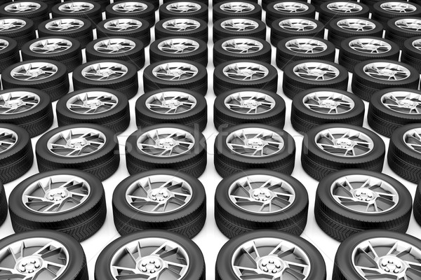 Car wheels Stock photo © magraphics